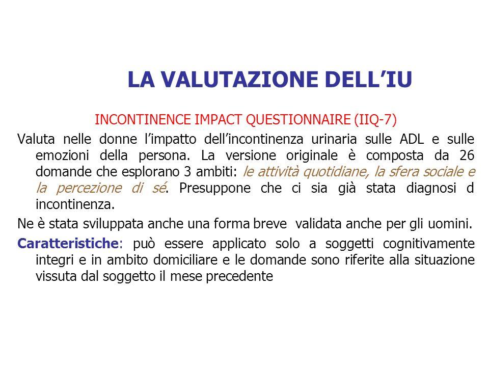 LA VALUTAZIONE DELL'IU