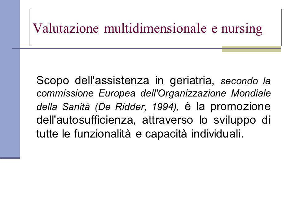 Valutazione multidimensionale e nursing