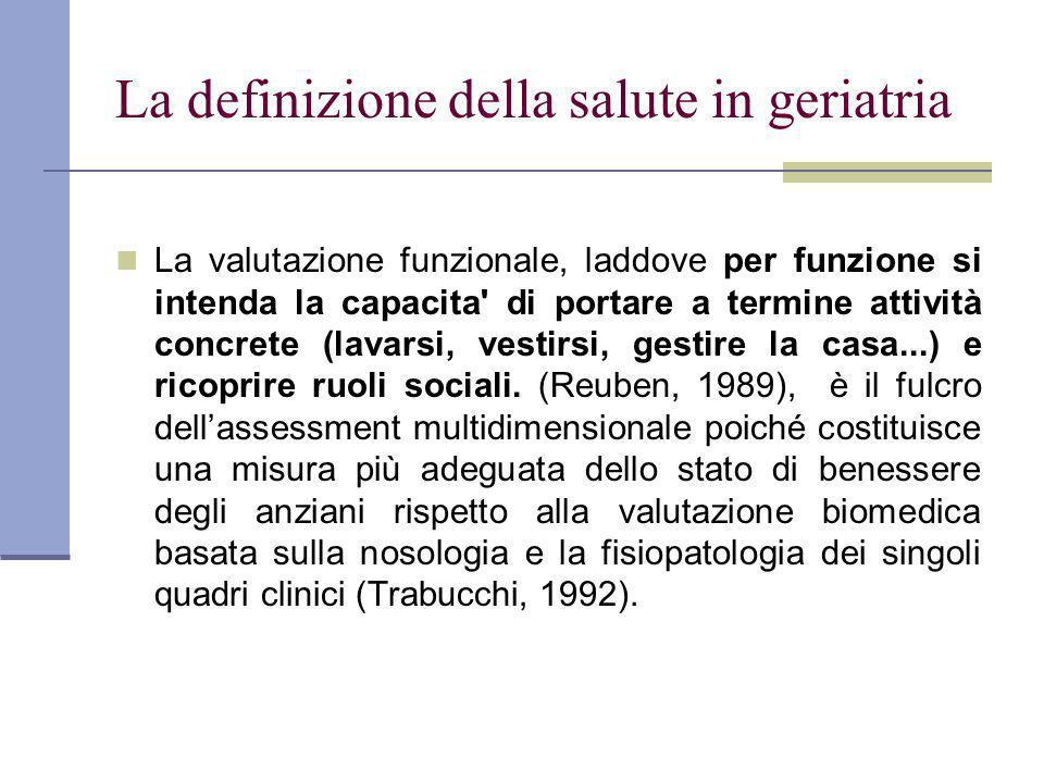 La definizione della salute in geriatria