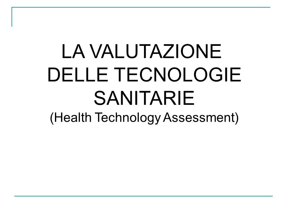 (Health Technology Assessment)