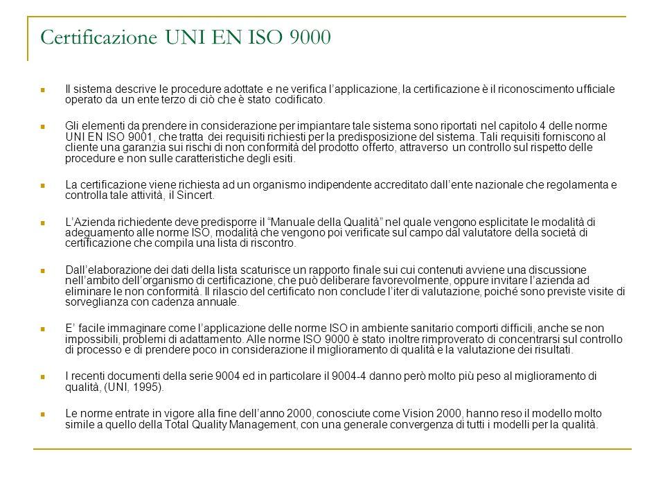 Certificazione UNI EN ISO 9000