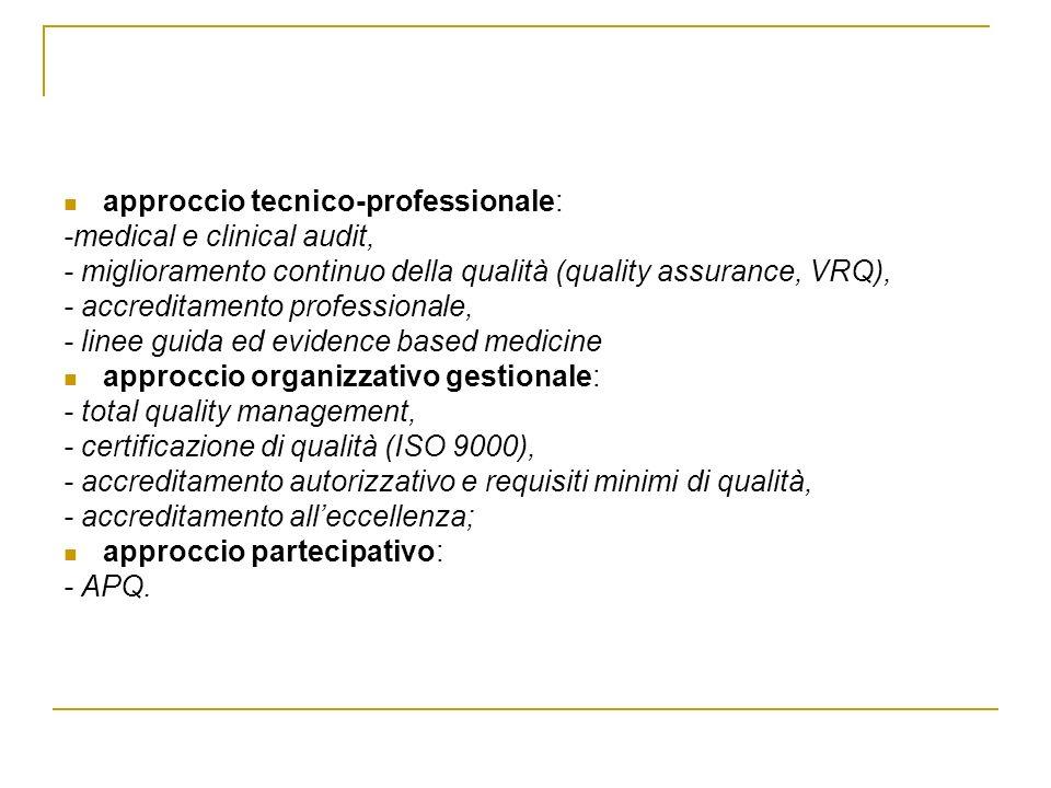 approccio tecnico-professionale: