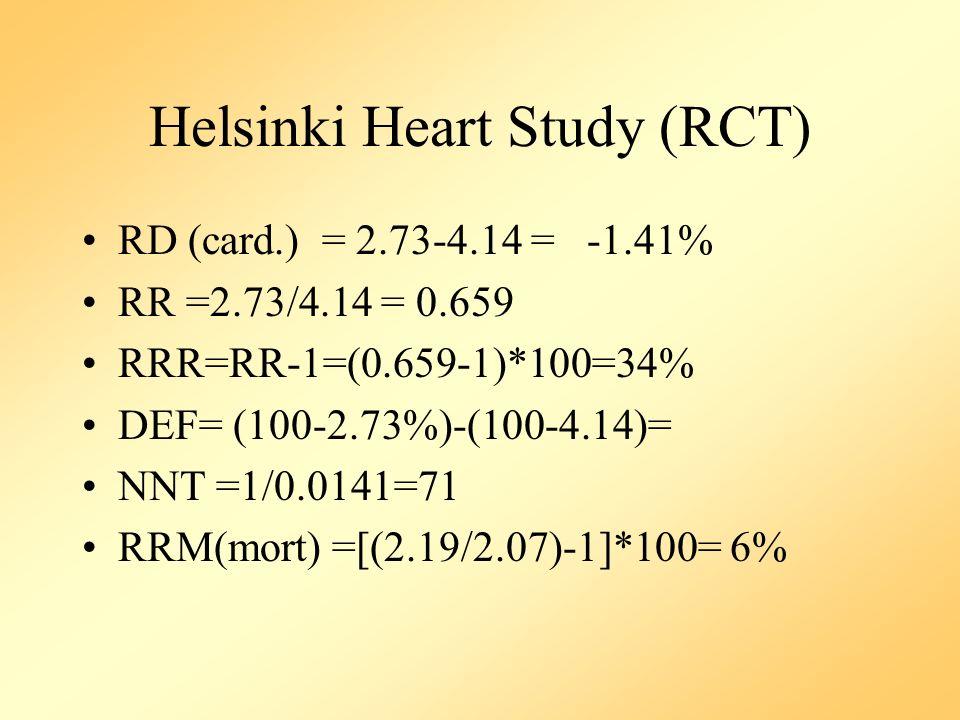 Helsinki Heart Study (RCT)