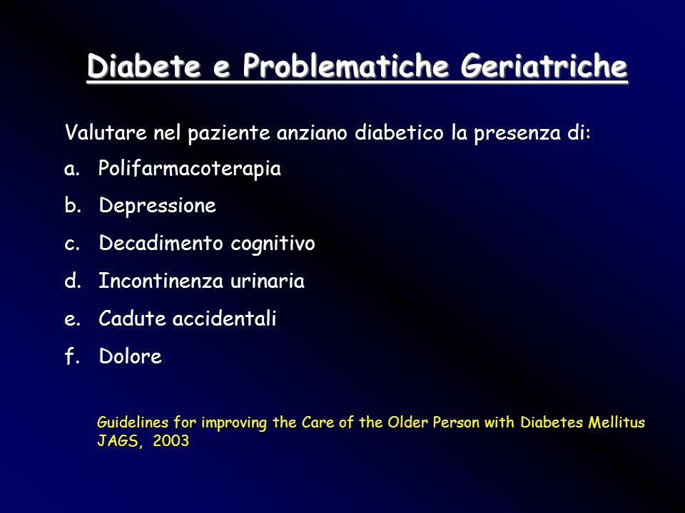 Diabete e Problematiche Geriatriche