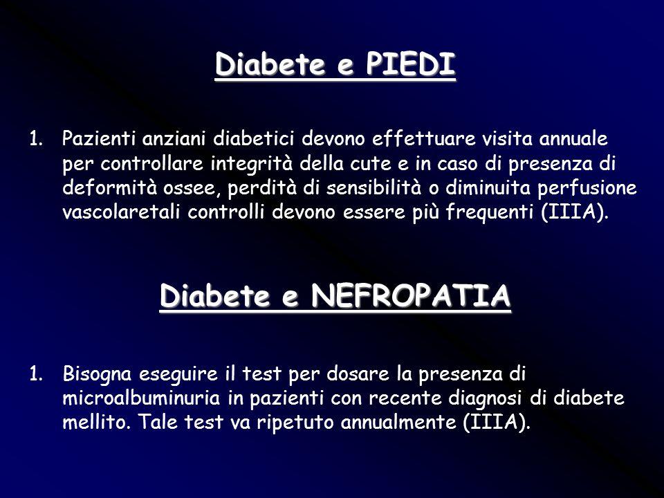 Diabete e PIEDI Diabete e NEFROPATIA