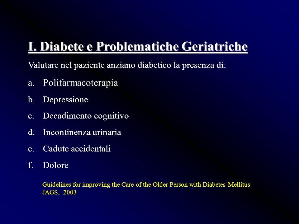 I. Diabete e Problematiche Geriatriche