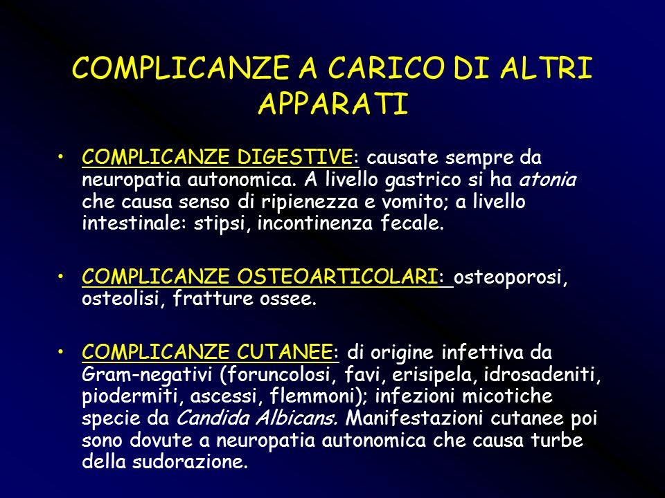 COMPLICANZE A CARICO DI ALTRI APPARATI