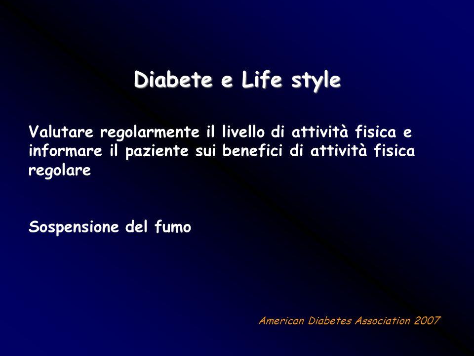 Diabete e Life style Sospensione del fumo