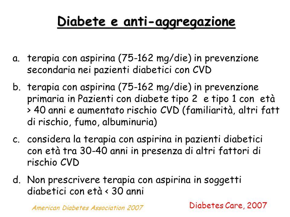 Diabete e anti-aggregazione