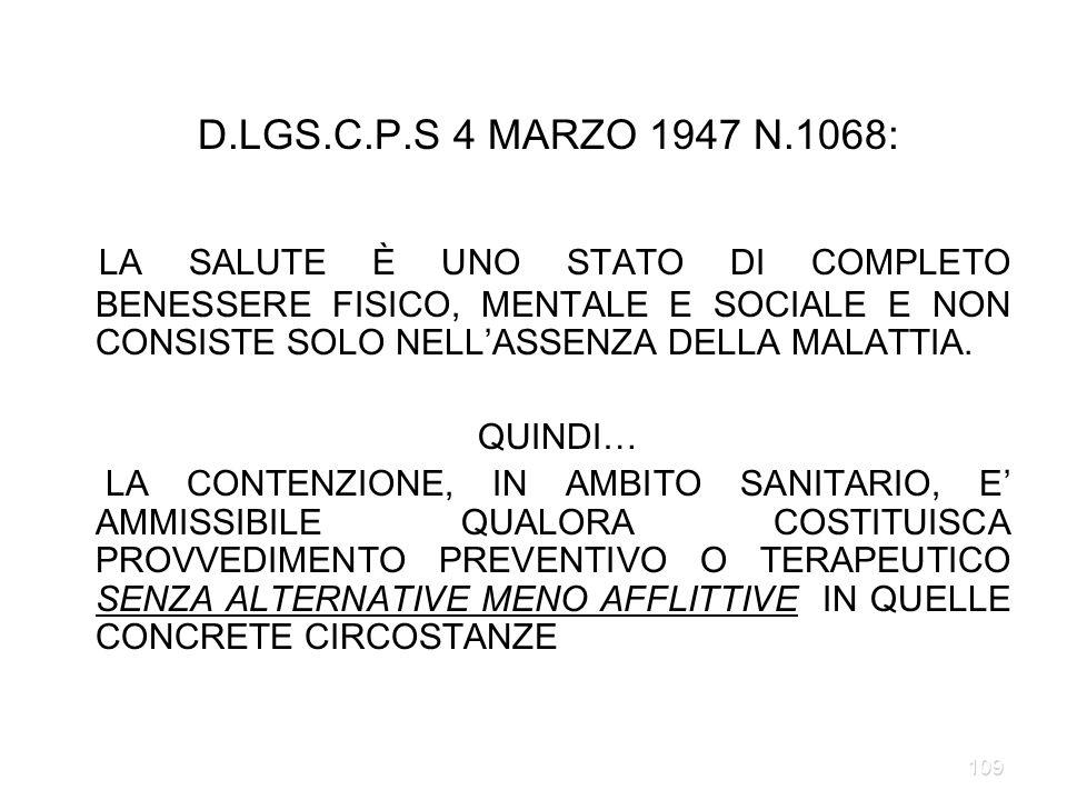 D.LGS.C.P.S 4 MARZO 1947 N.1068: