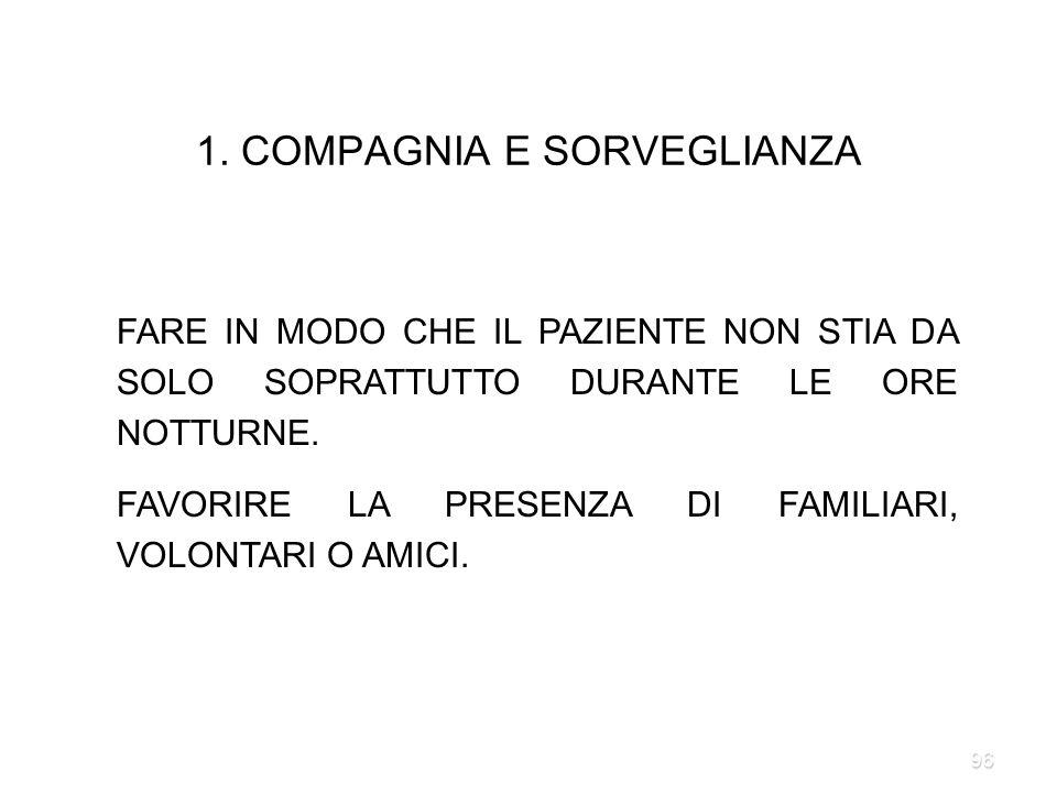 1. COMPAGNIA E SORVEGLIANZA
