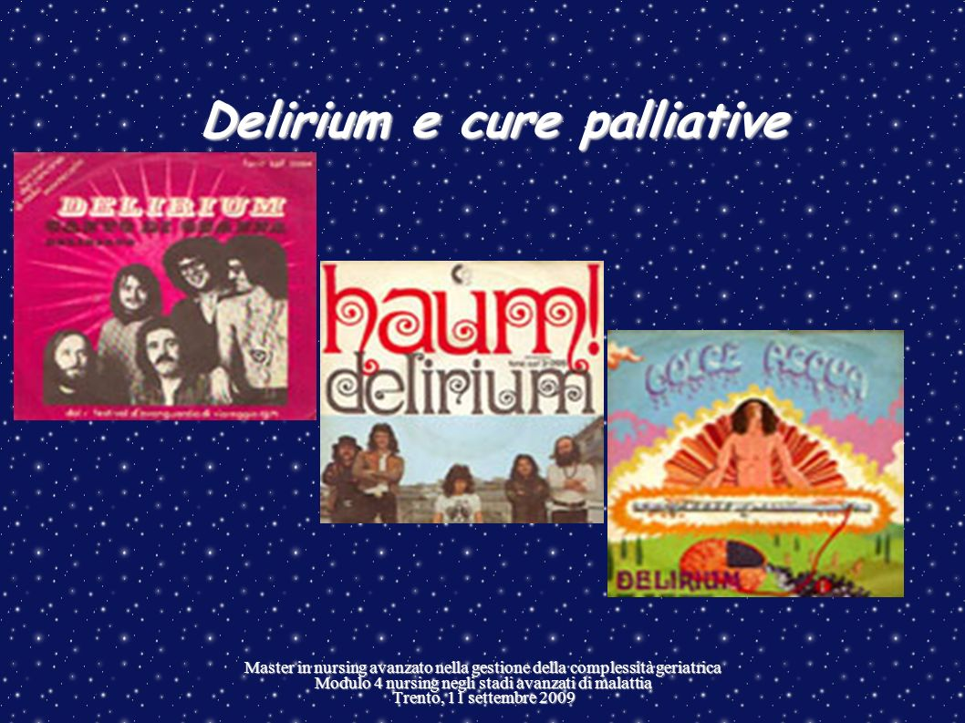 Delirium e cure palliative