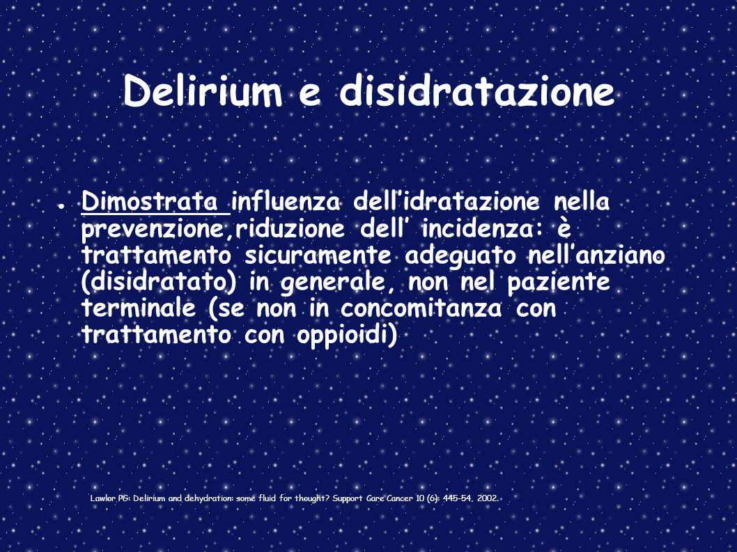 Delirium e disidratazione