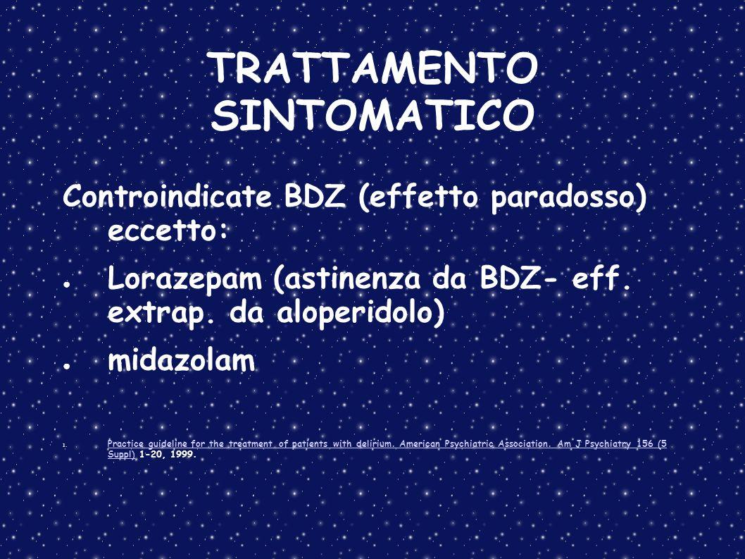 TRATTAMENTO SINTOMATICO