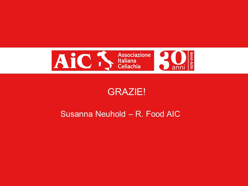 GRAZIE! Susanna Neuhold – R. Food AIC