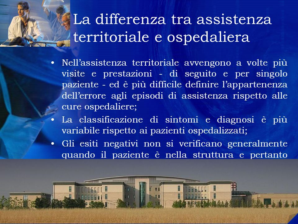 La differenza tra assistenza territoriale e ospedaliera