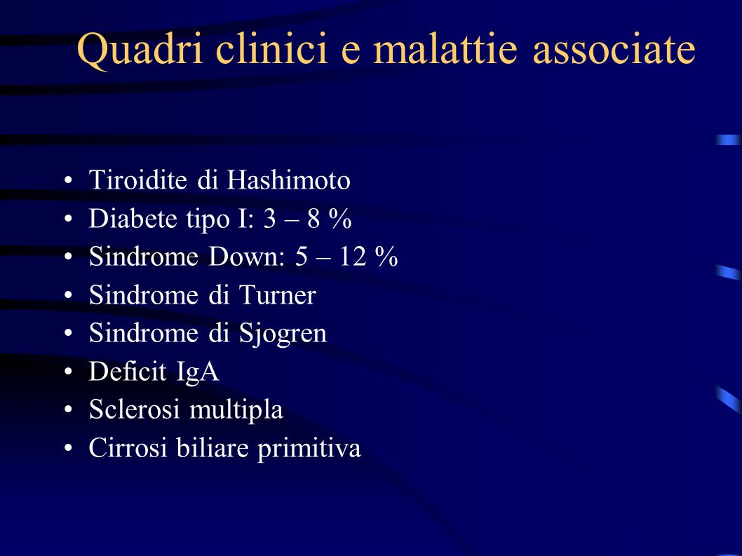 Quadri clinici e malattie associate