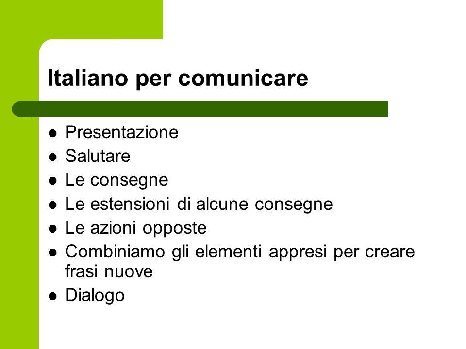 Italiano per comunicare