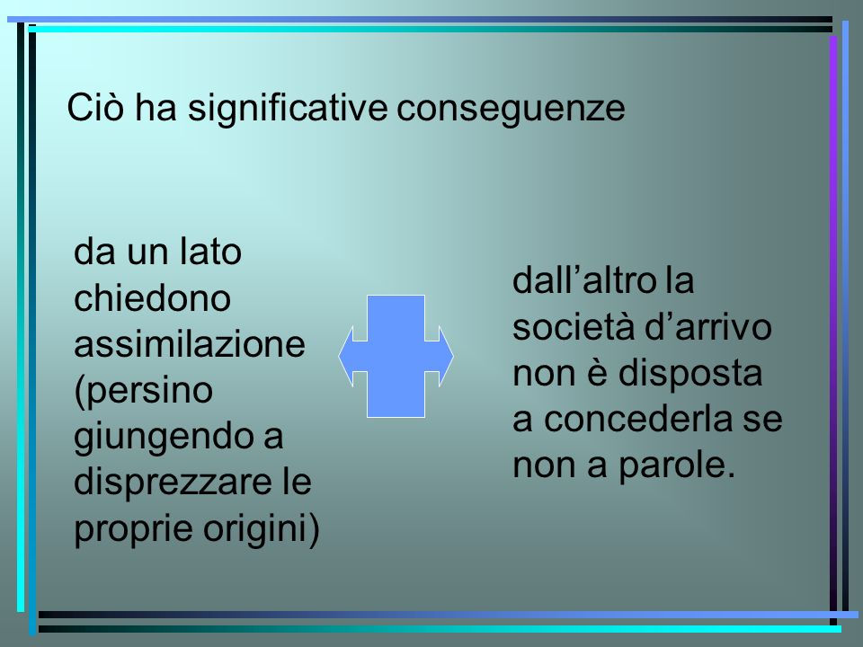 Ciò ha significative conseguenze