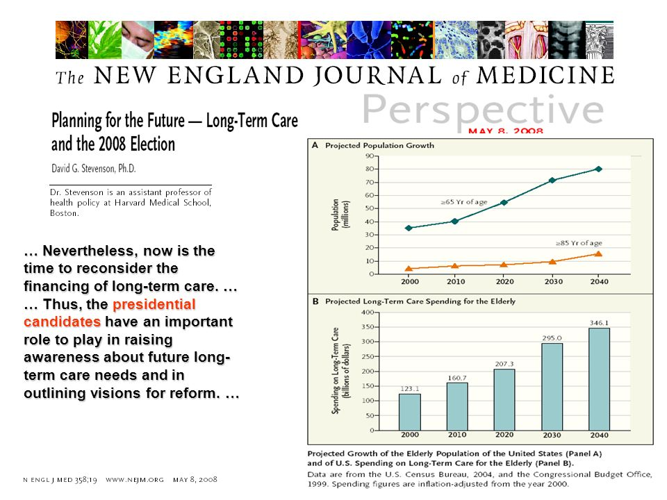 … Nevertheless, now is the time to reconsider the financing of long-term care. …