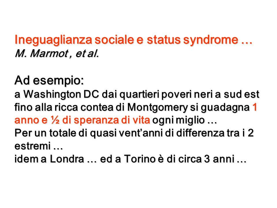 Ineguaglianza sociale e status syndrome …