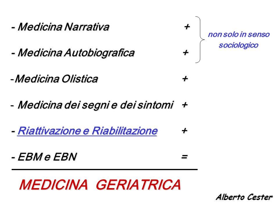 MEDICINA GERIATRICA - Medicina Narrativa + - Medicina Autobiografica +