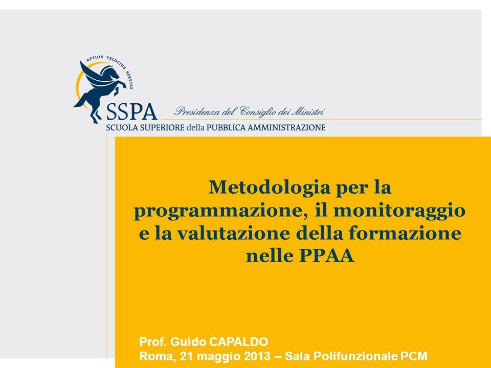 Metodologia per la programmazione, il monitoraggio e la valutazione della formazione nelle PPAA