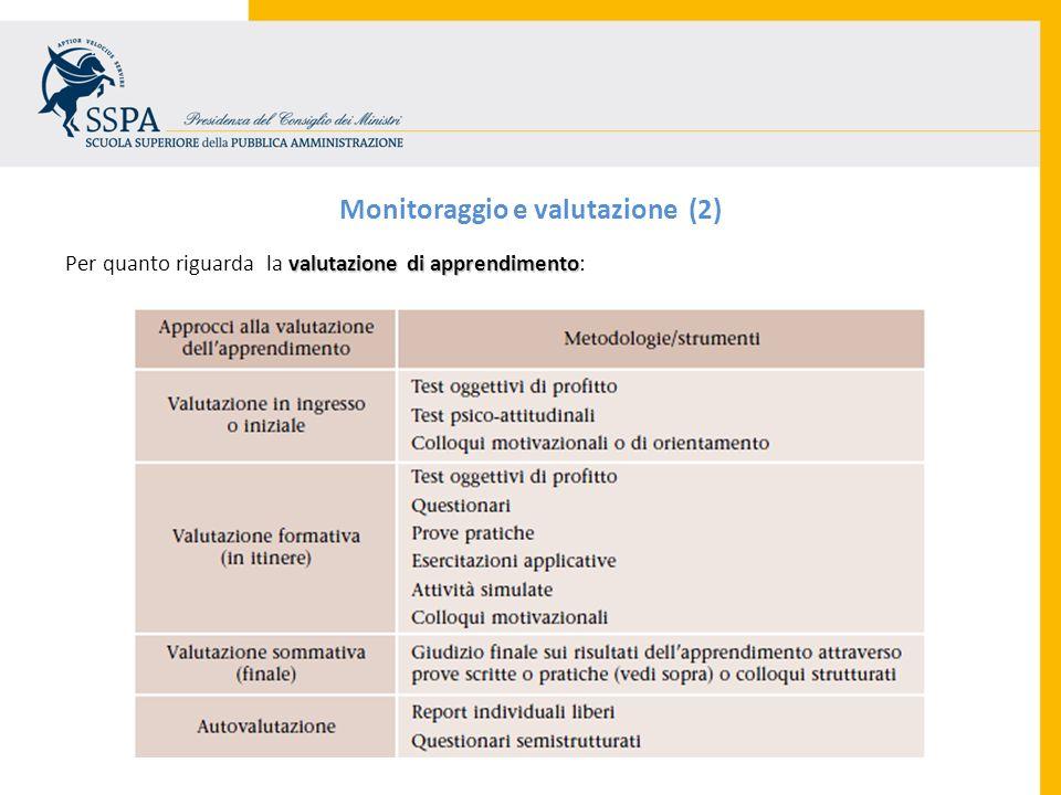 Monitoraggio e valutazione (2)
