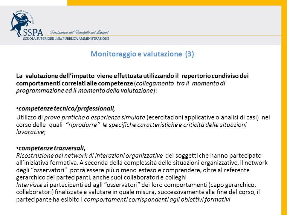 Monitoraggio e valutazione (3)
