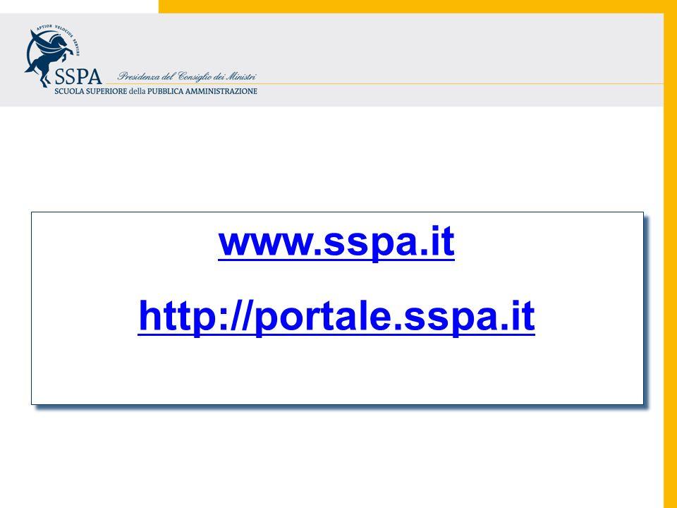 www.sspa.it http://portale.sspa.it