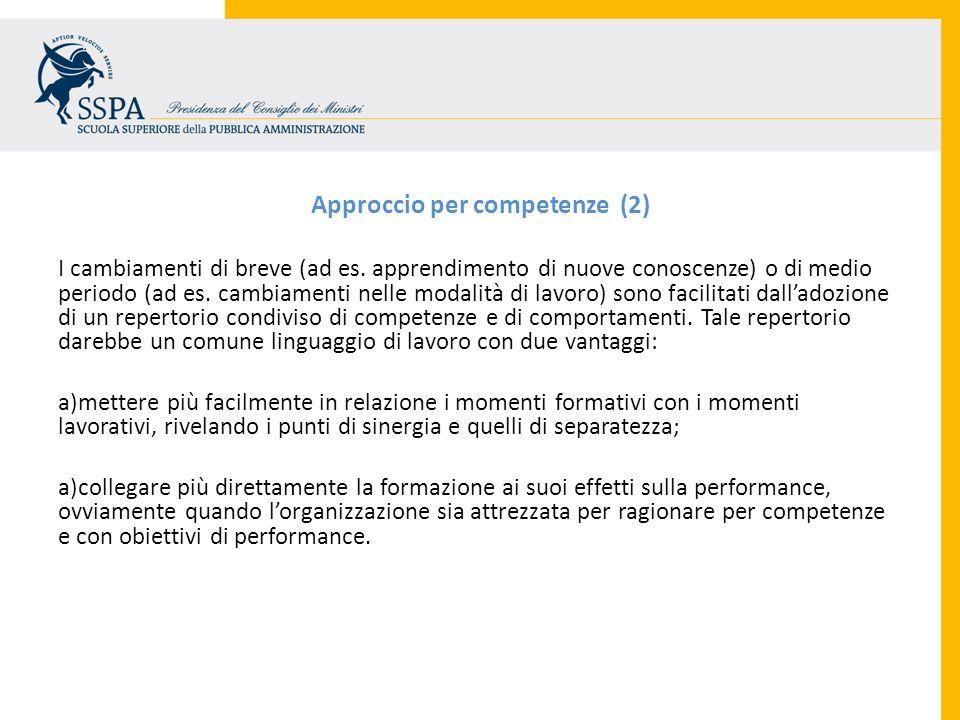 Approccio per competenze (2)