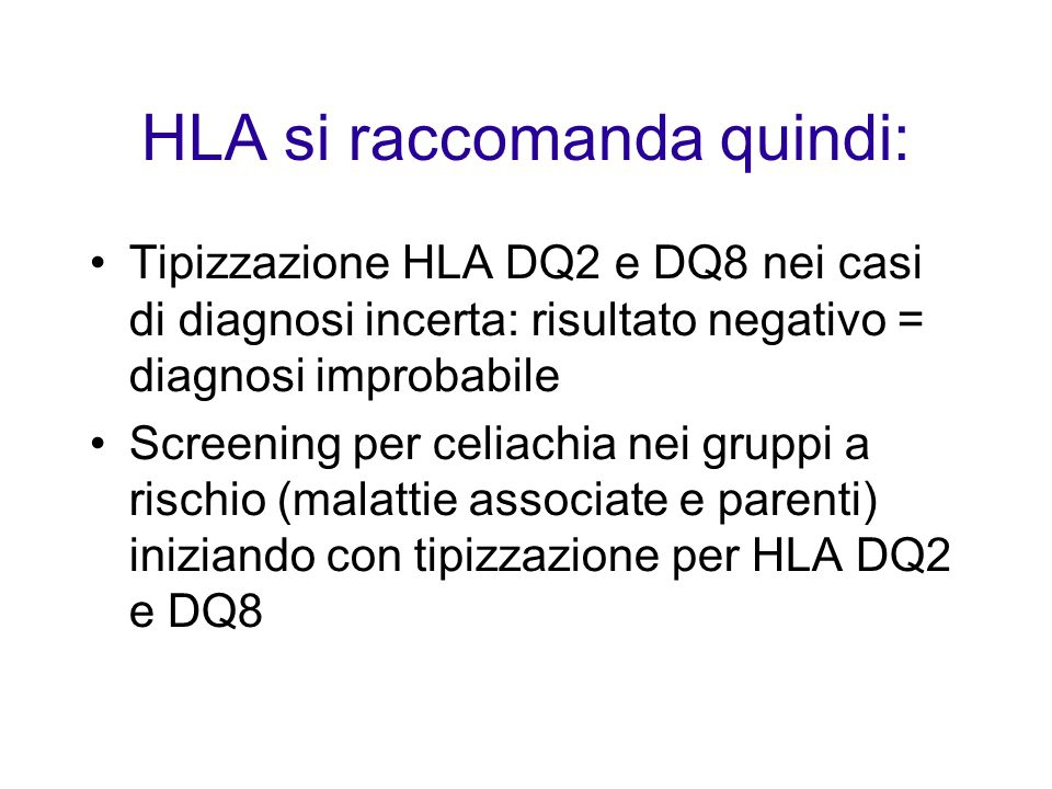 HLA si raccomanda quindi: