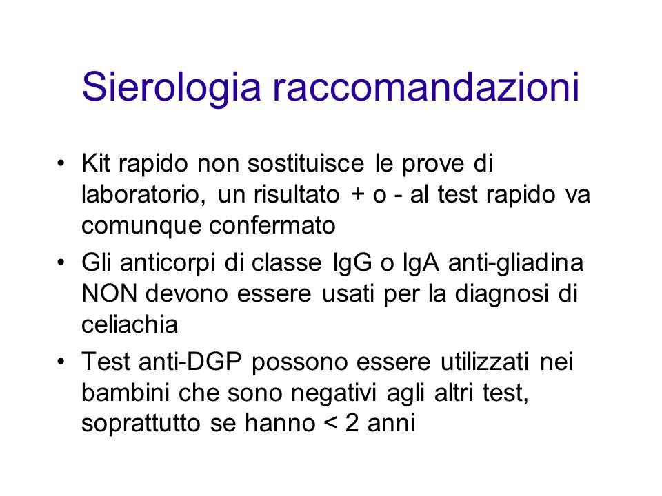 Sierologia raccomandazioni