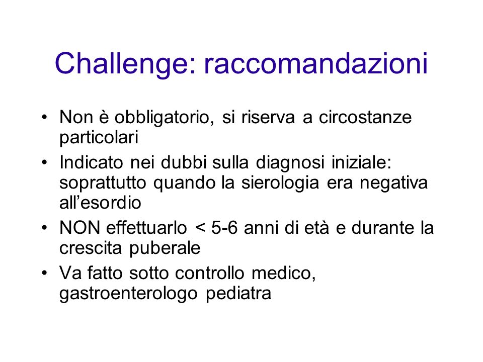 Challenge: raccomandazioni