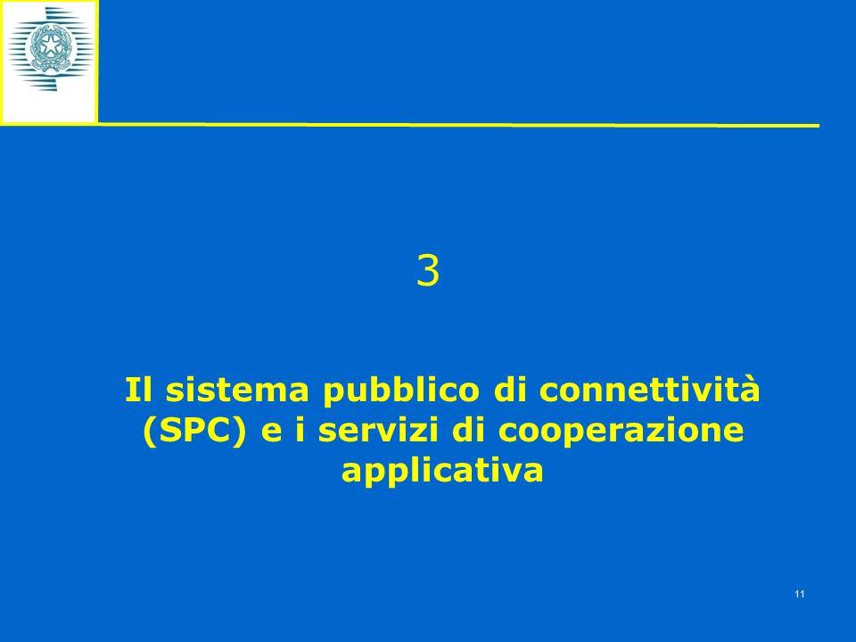3 Il sistema pubblico di connettività (SPC) e i servizi di cooperazione applicativa