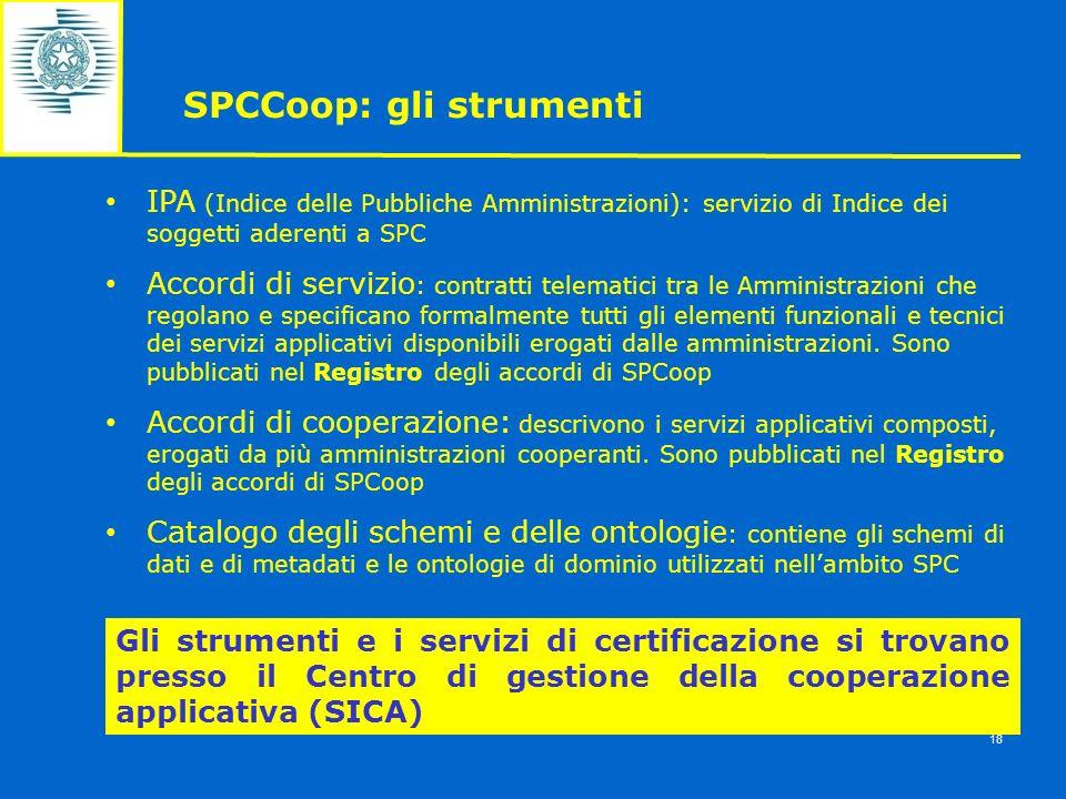 SPCCoop: gli strumenti