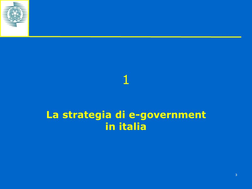 La strategia di e-government in italia