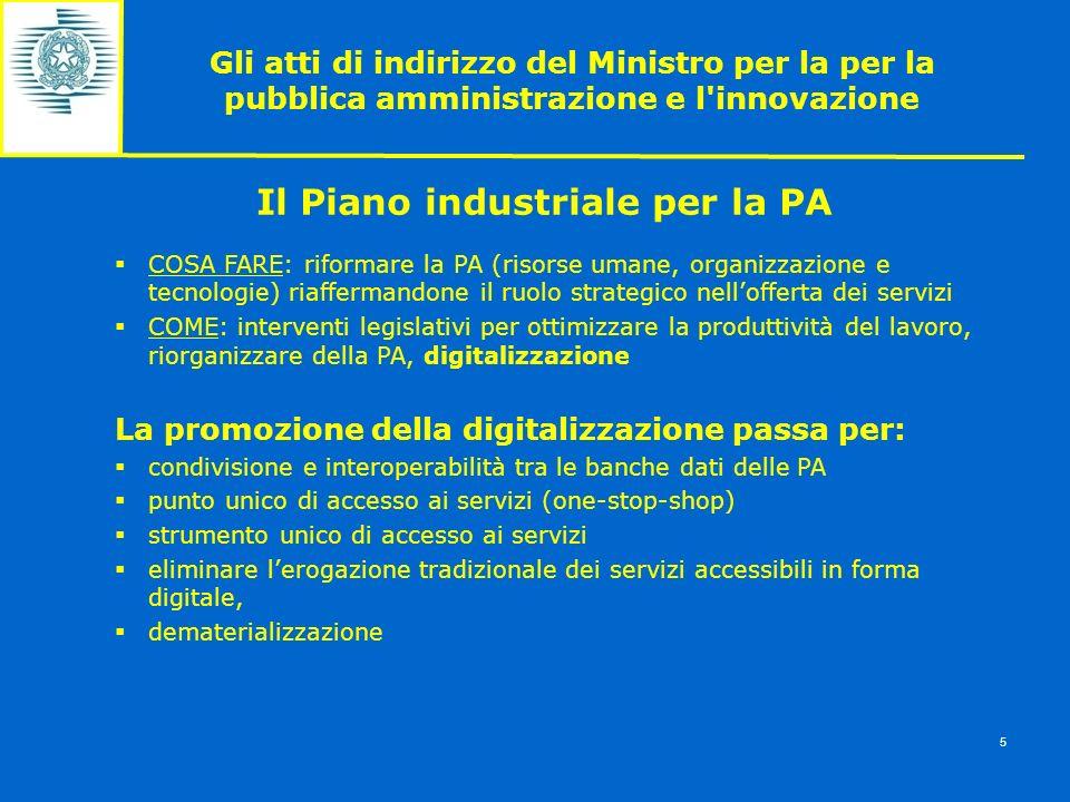 Il Piano industriale per la PA