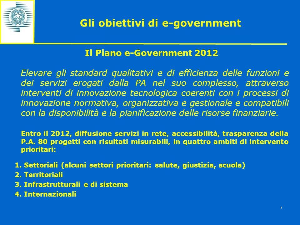 Gli obiettivi di e-government