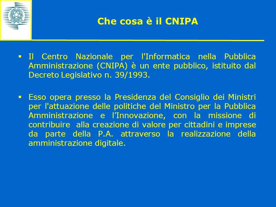 Che cosa è il CNIPA