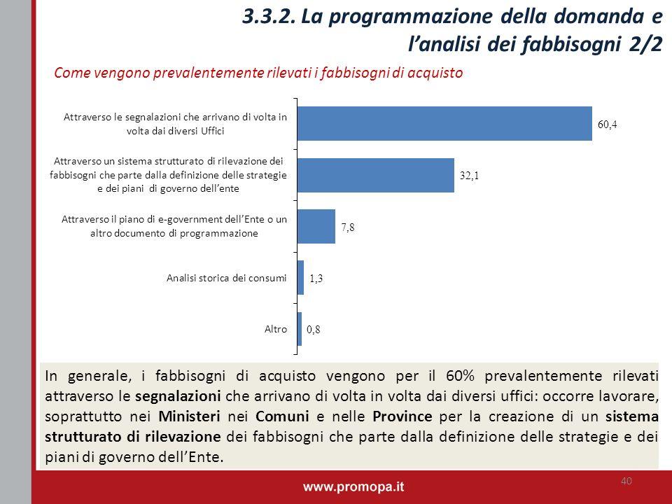 3.3.2. La programmazione della domanda e l'analisi dei fabbisogni 2/2