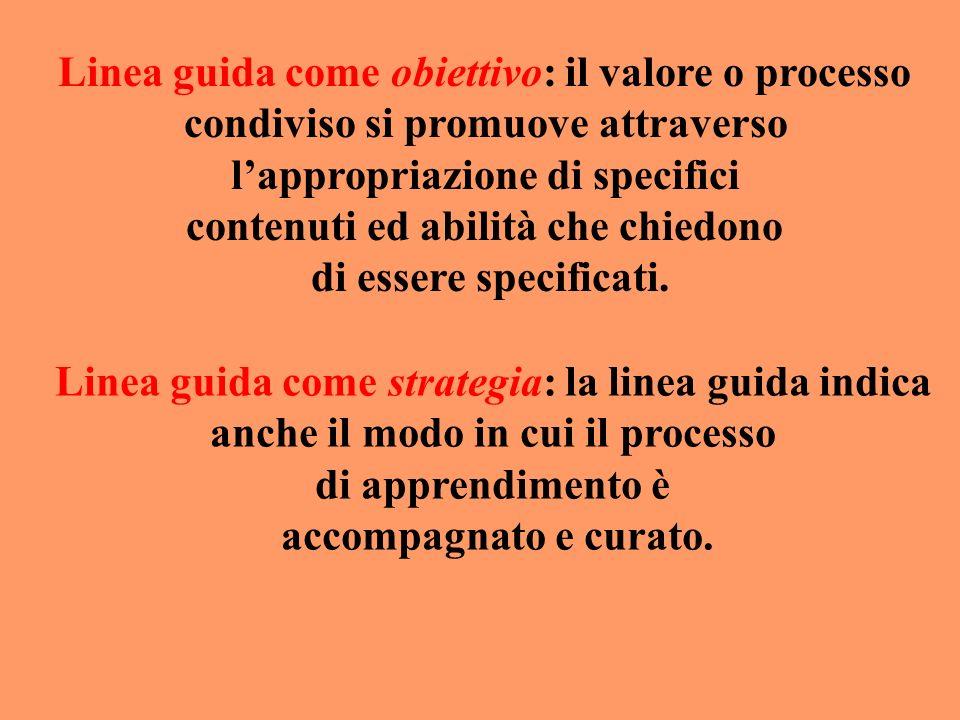 Linea guida come obiettivo: il valore o processo
