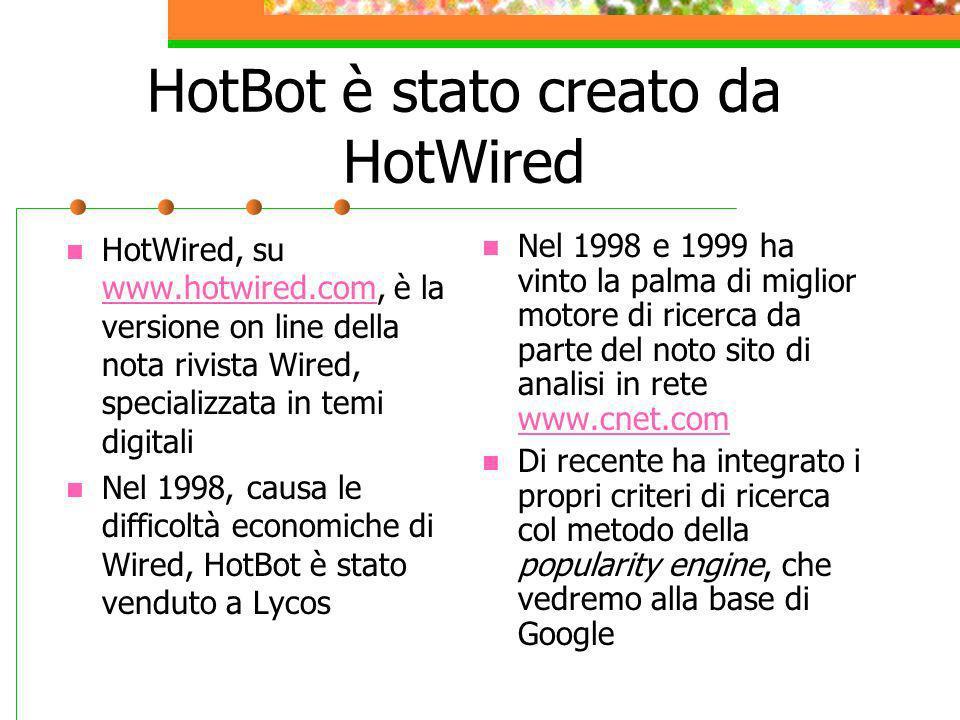 HotBot è stato creato da HotWired
