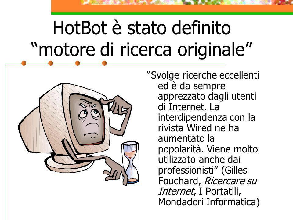 HotBot è stato definito motore di ricerca originale