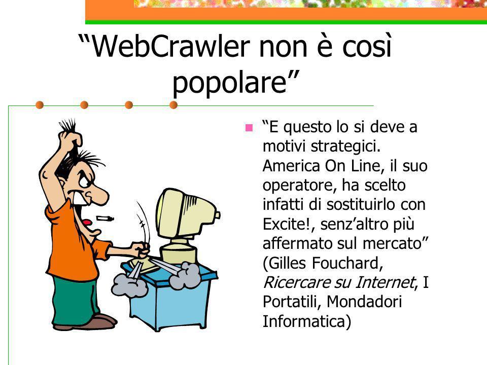 WebCrawler non è così popolare