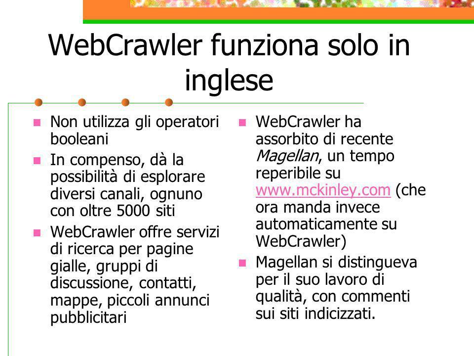 WebCrawler funziona solo in inglese