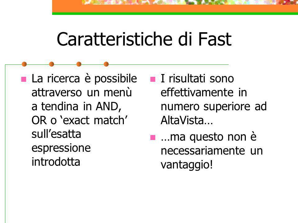 Caratteristiche di Fast