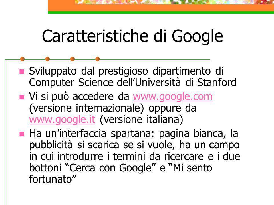 Caratteristiche di Google