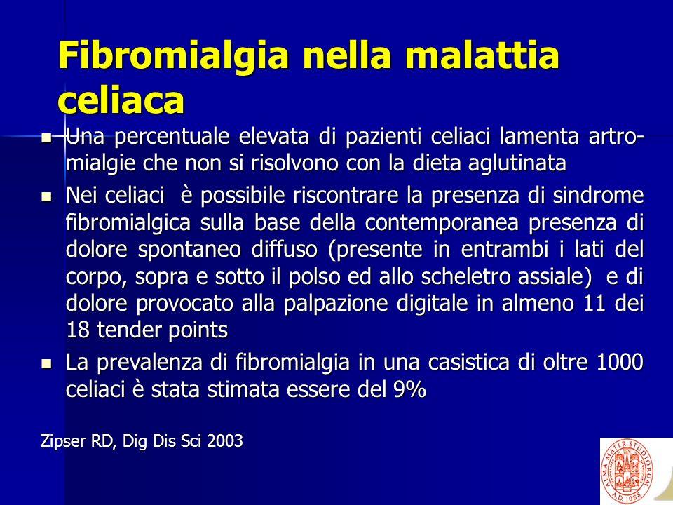 Fibromialgia nella malattia celiaca