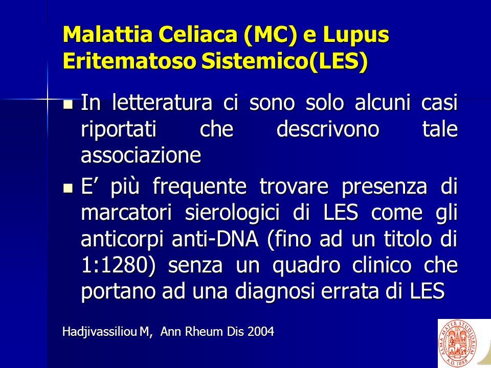 Malattia Celiaca (MC) e Lupus Eritematoso Sistemico(LES)